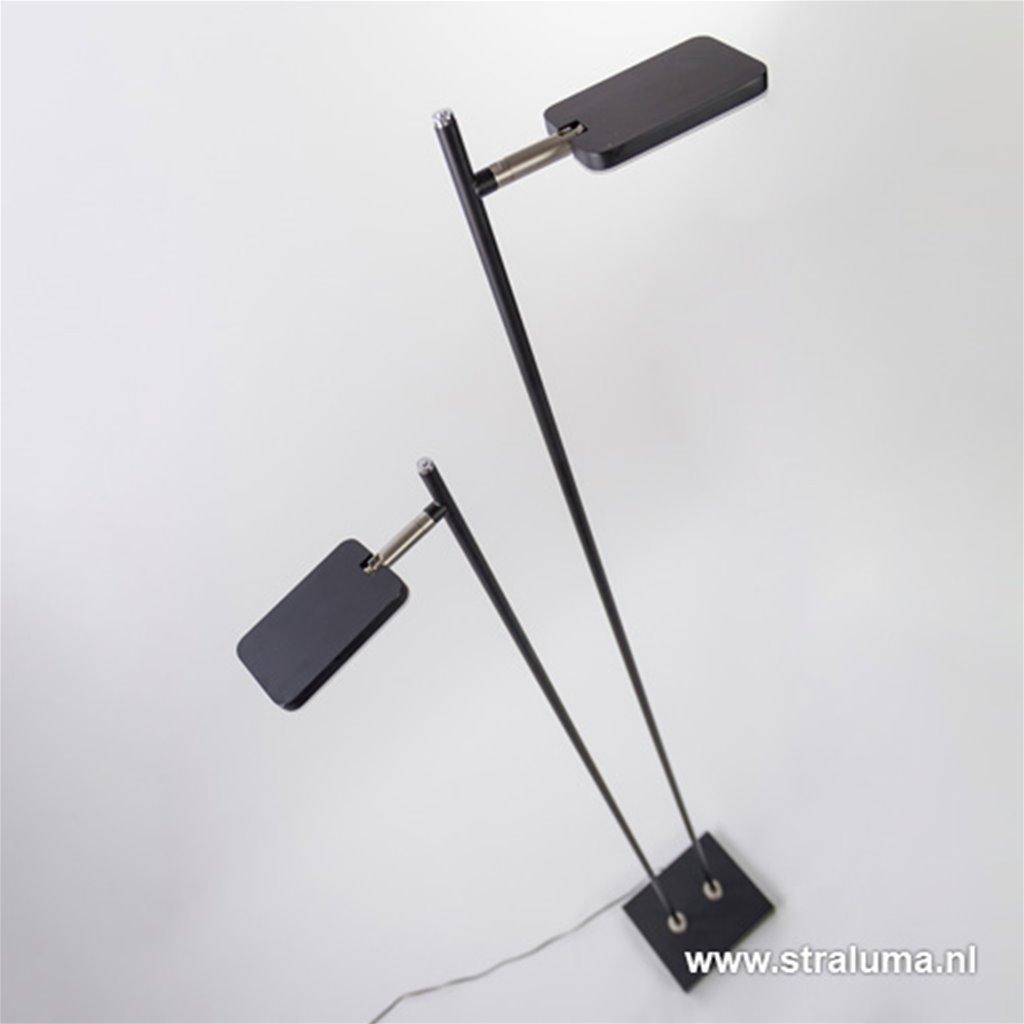 Staande vloerlamp led 2 lichts zwart