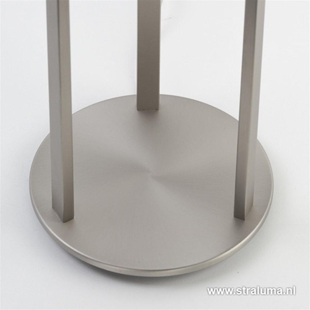 Moderne vloerlamp staal met opaal glas