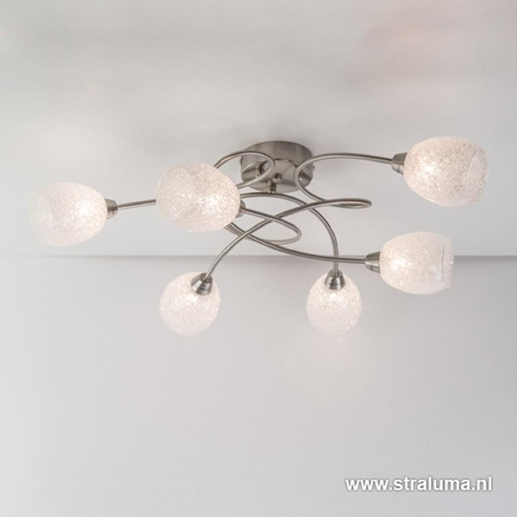 Speelse plafondlamp-plafonnière glas