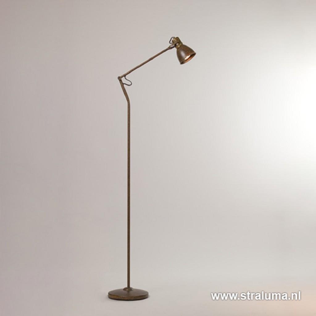 Roestbruine LED leeslamp-vloerlamp