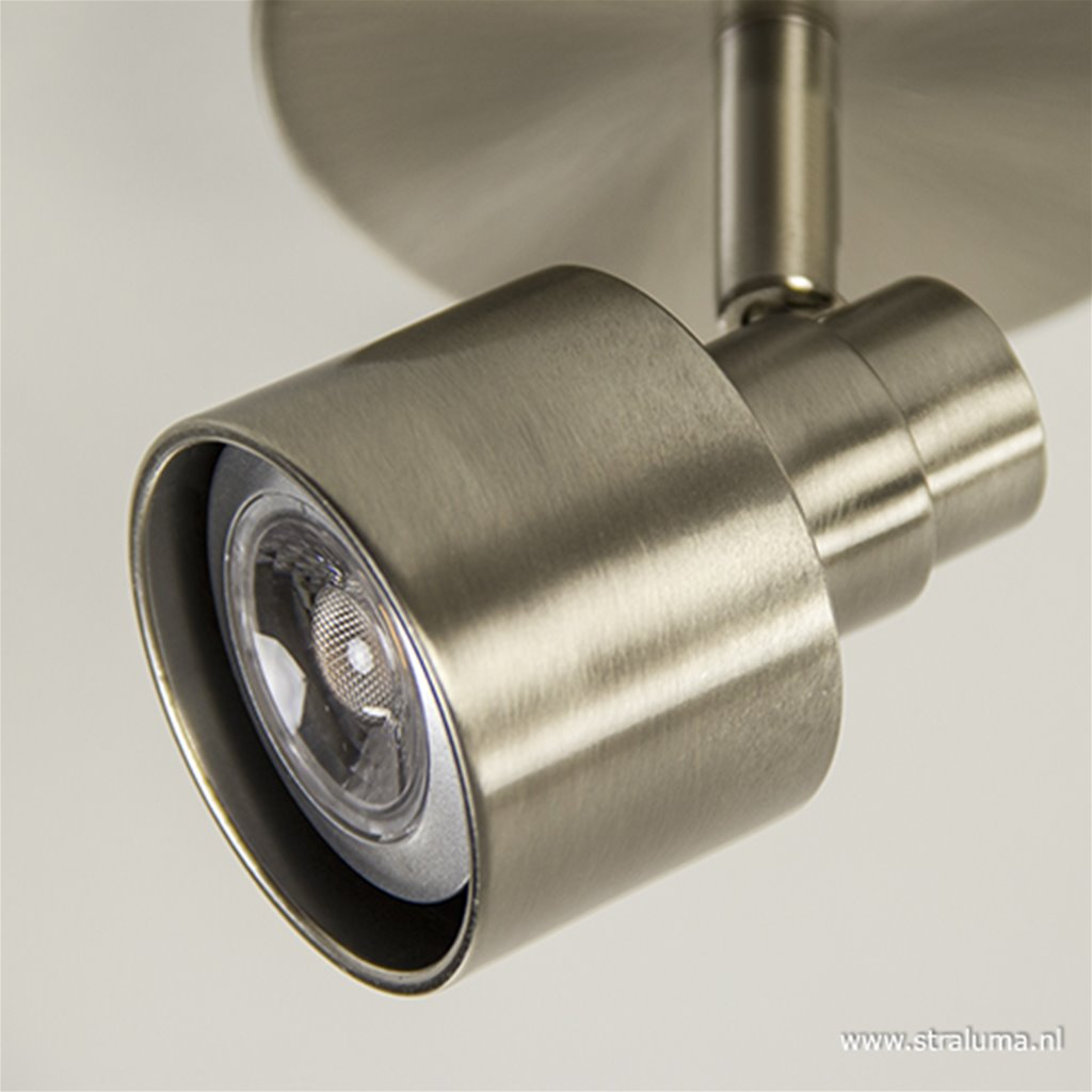 Moderne plafondspot LED staal 1-lichts