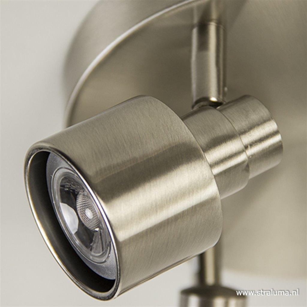 Stalen plafondlamp-spot 3-lichts rond
