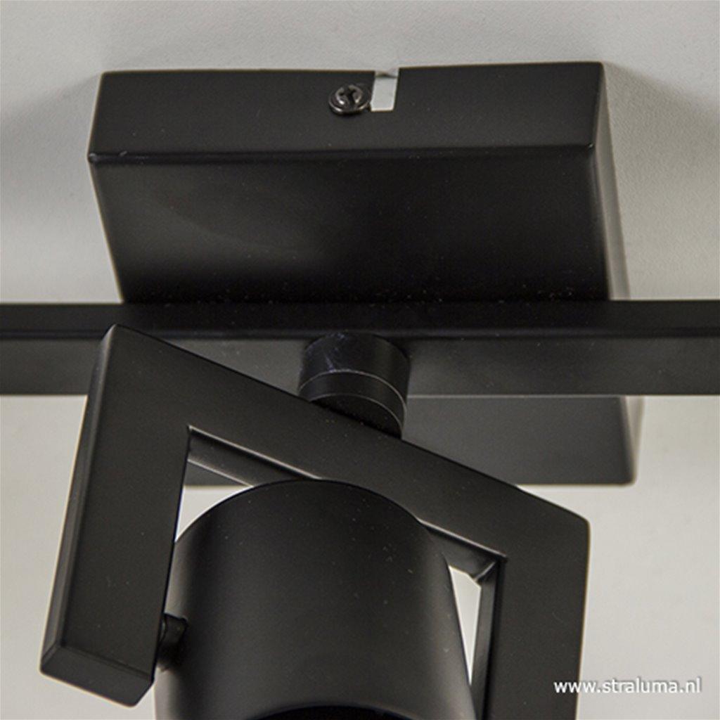Plafondspot 3-lichts zwart incl.gu10
