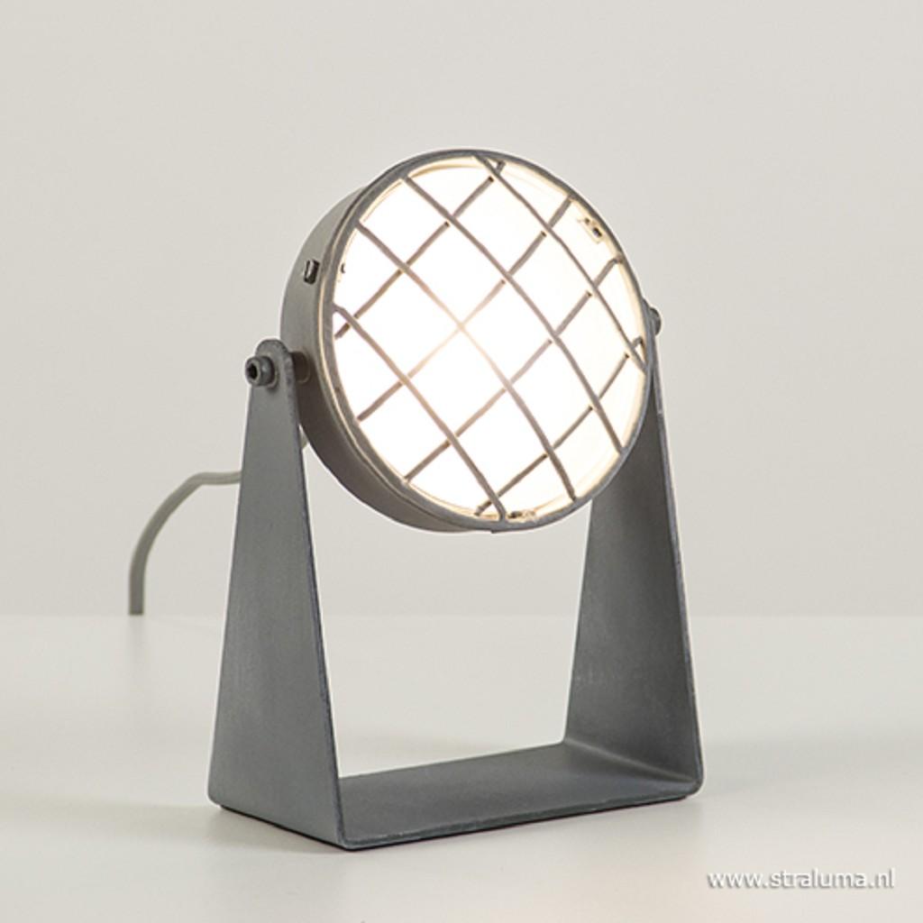 LED tafellamp-spot betonlook met dimm