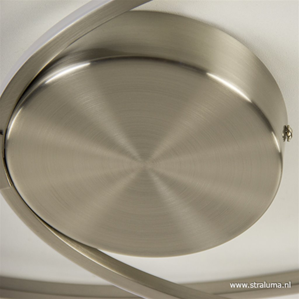 Moderne LED plafonnière staal 3-standen dimbaar