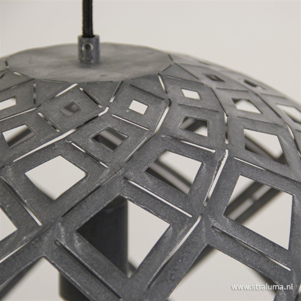 Grote bol hanglamp betonlook