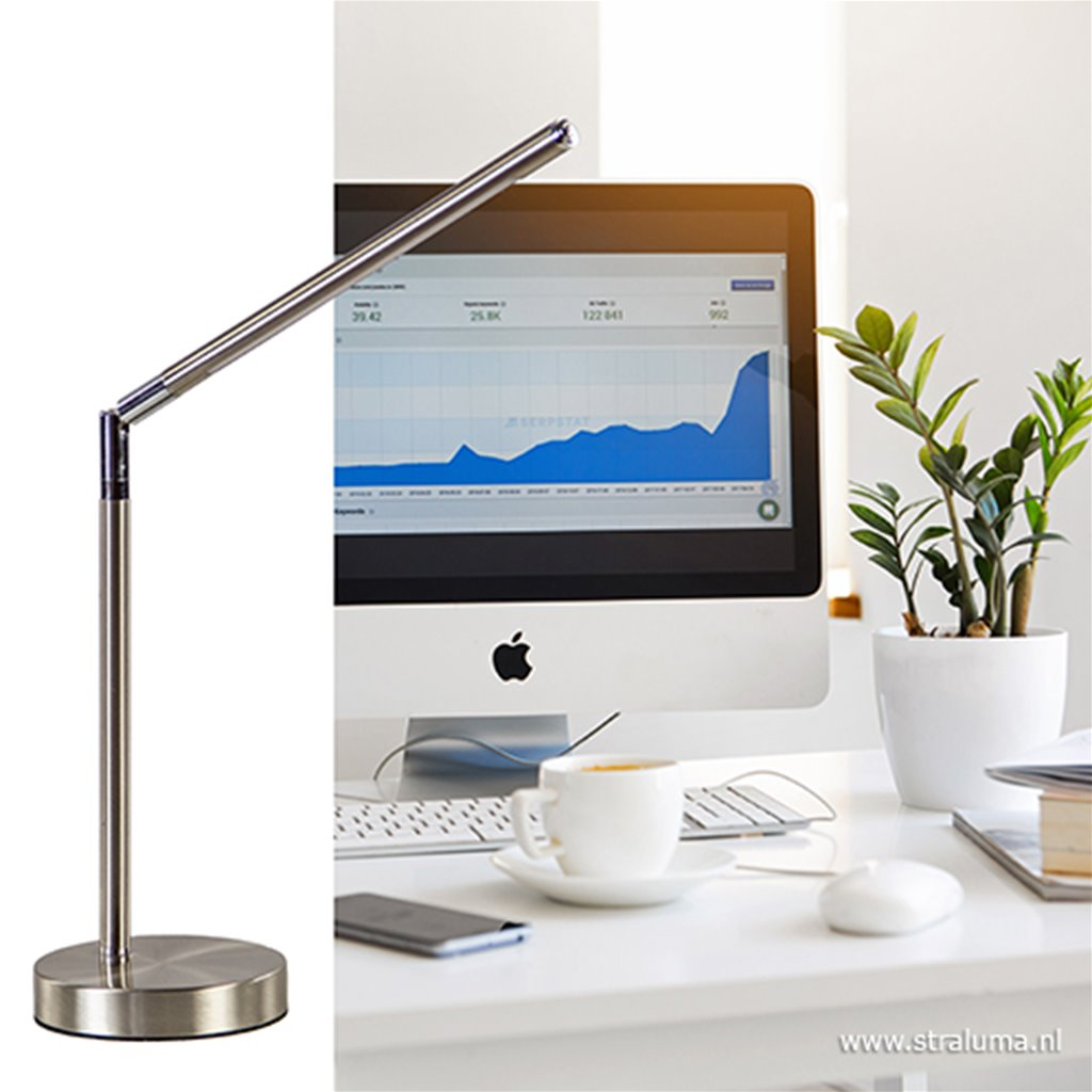 Stalen LED tafel-bureaulamp dimbaar
