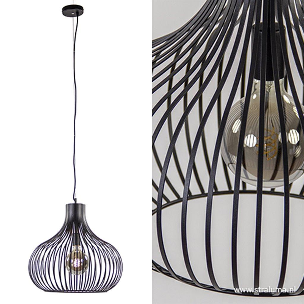 Hanglamp draad zwart groot 48cm