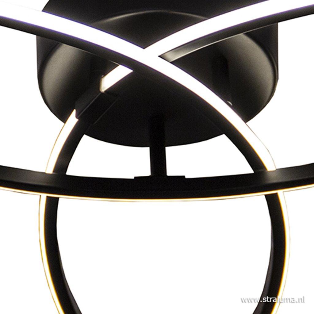 Plafondlamp 3-v eclips zwart 3-st.dimb.
