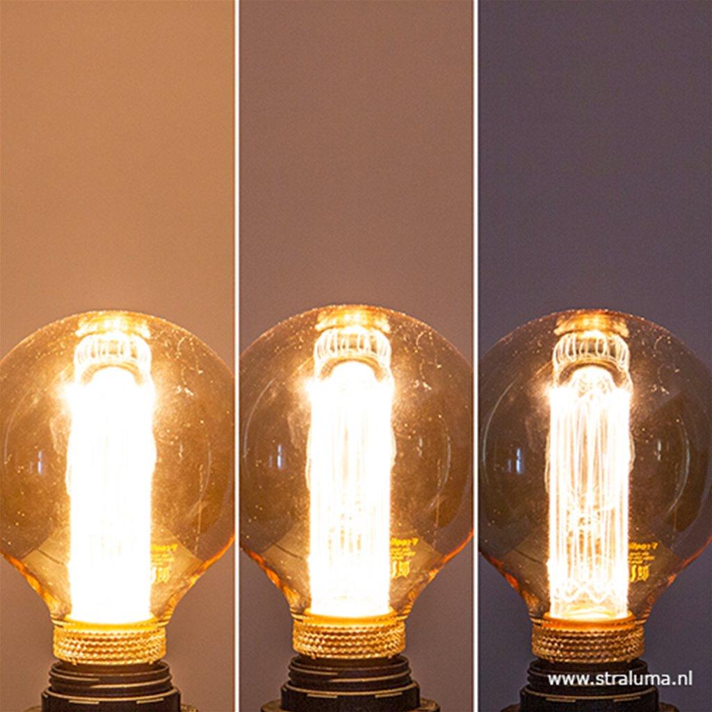3-standen Led lamp 5 watt gold 95mm E27