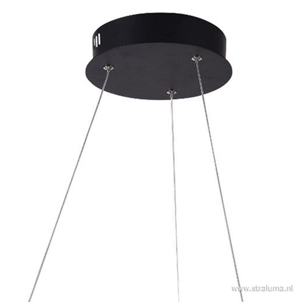 Zwarte hanglamp krul inclusief LED