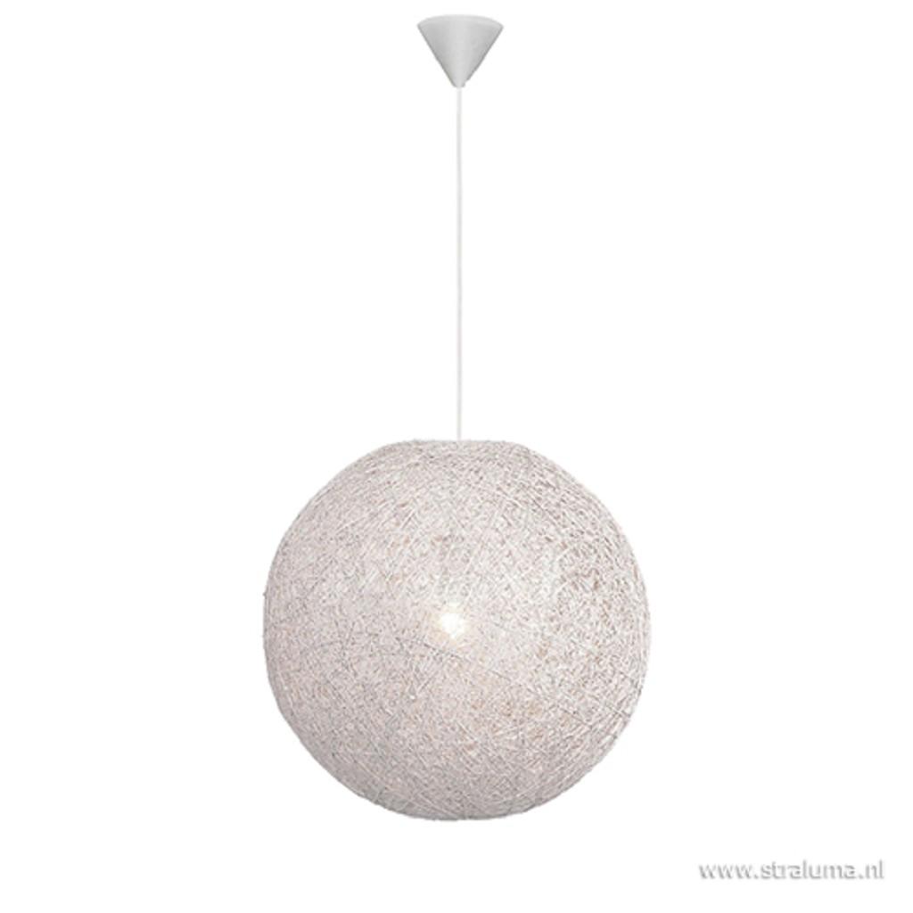 Hanglamp Abaca bol wit 45cm