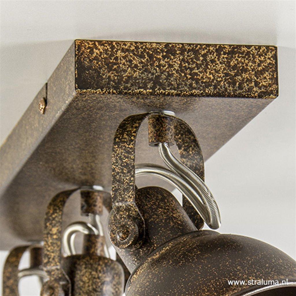 Landelijke industriele plafondspot bruin