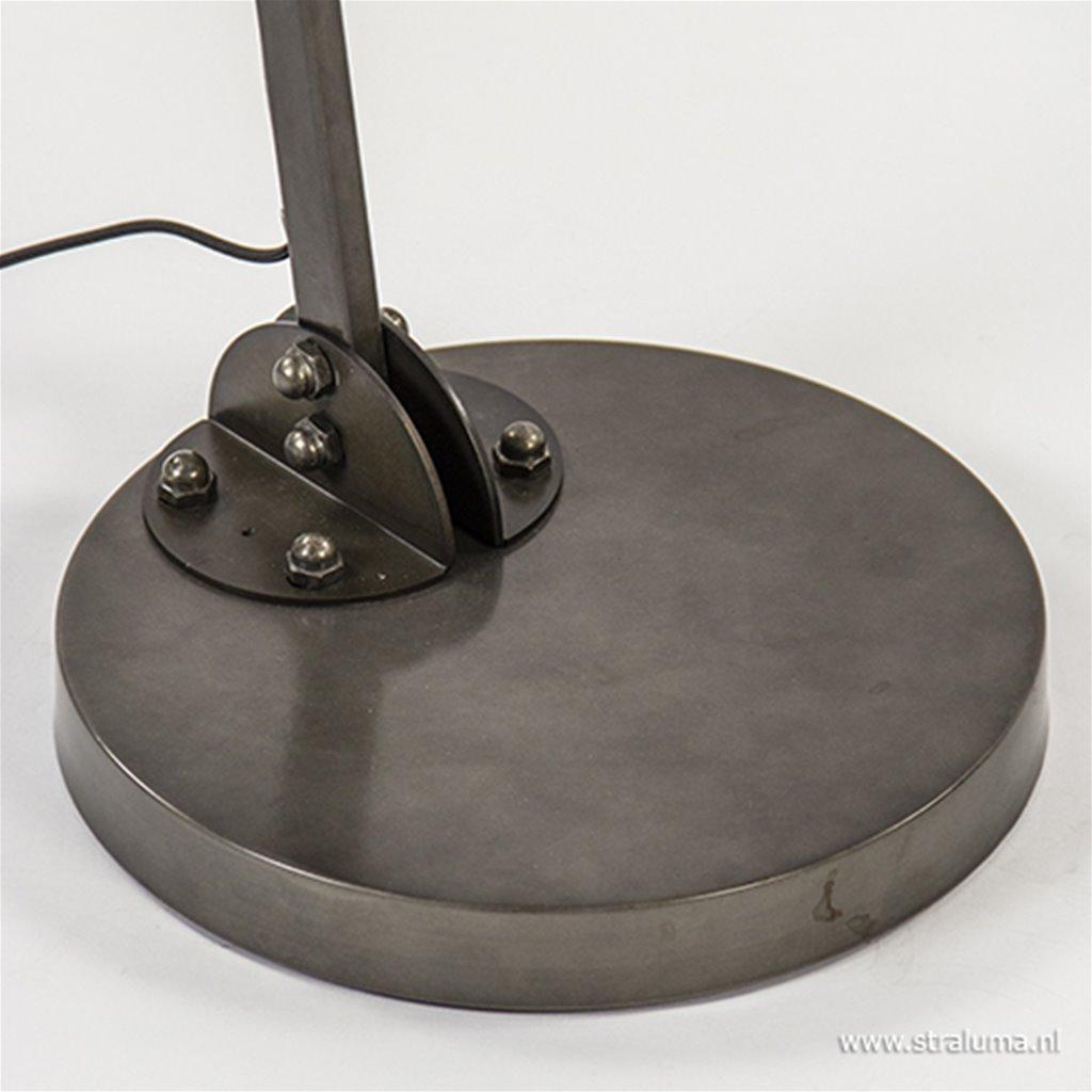 Industriële vloerlamp zwart staal