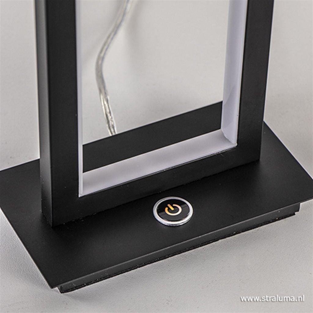 LED tafellamp zwart dimbaar 3 standen