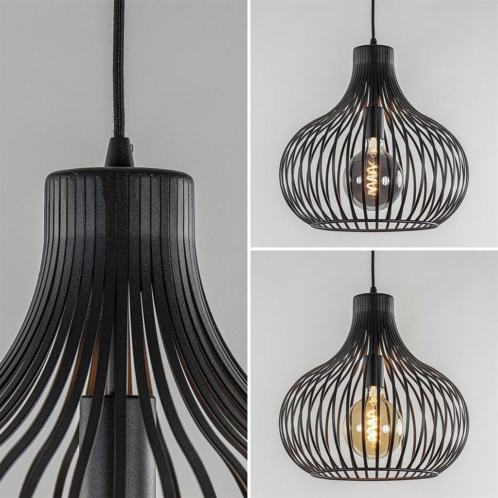 2-Lichts moderne hanglamp draad zwart
