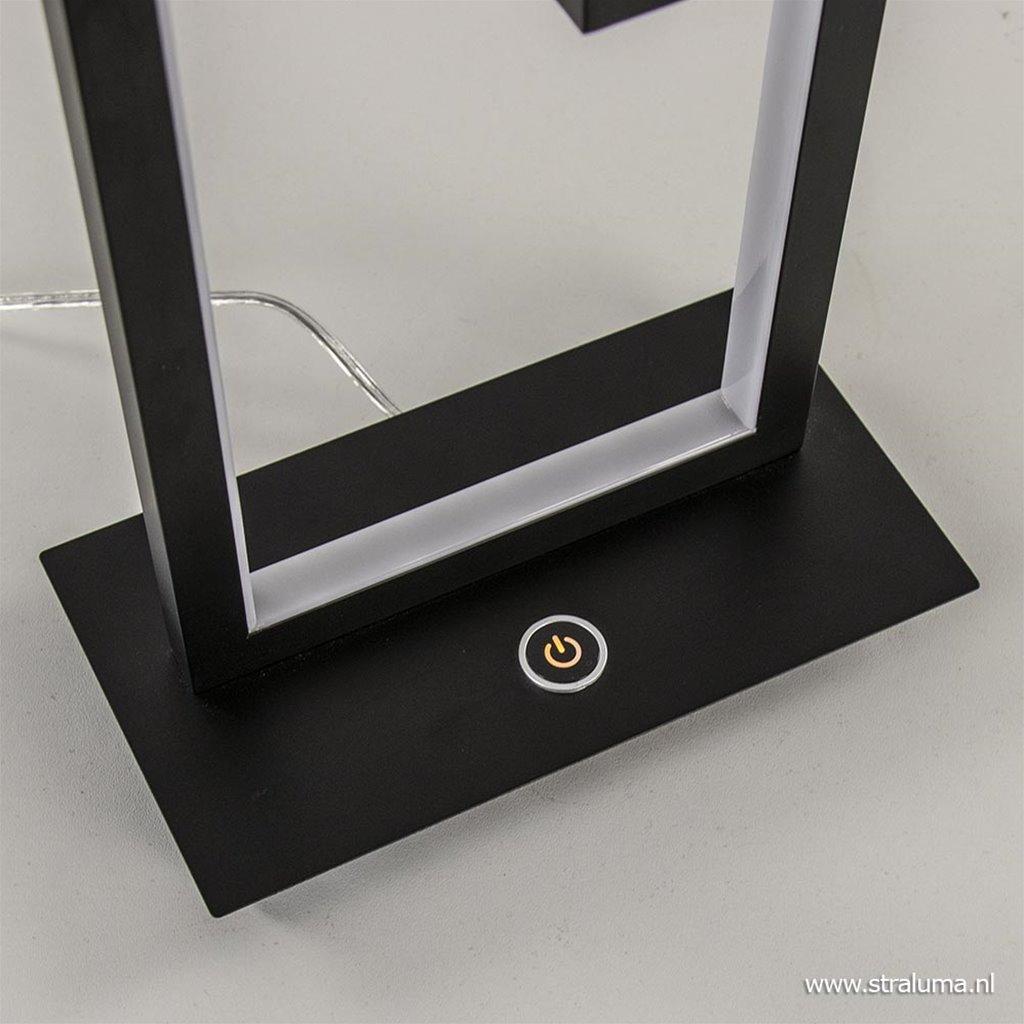 Moderne tafellamp rechthoek met dimbaar LED