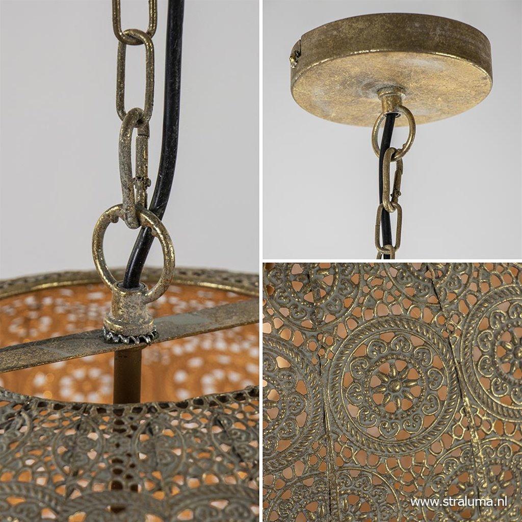 Grote hanglamp oriental antiek messing 50 cm