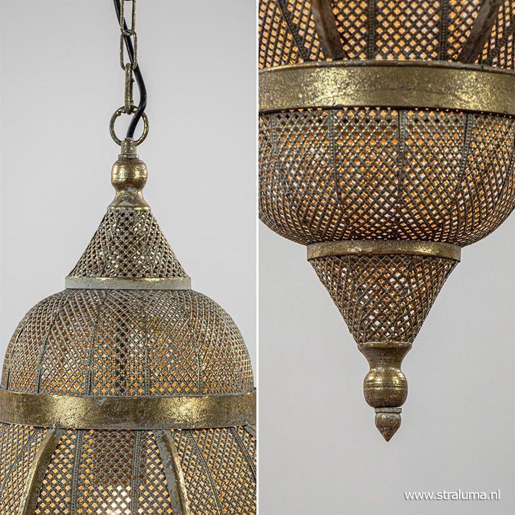 Sfeervolle lantaarn hanglamp antiek goud