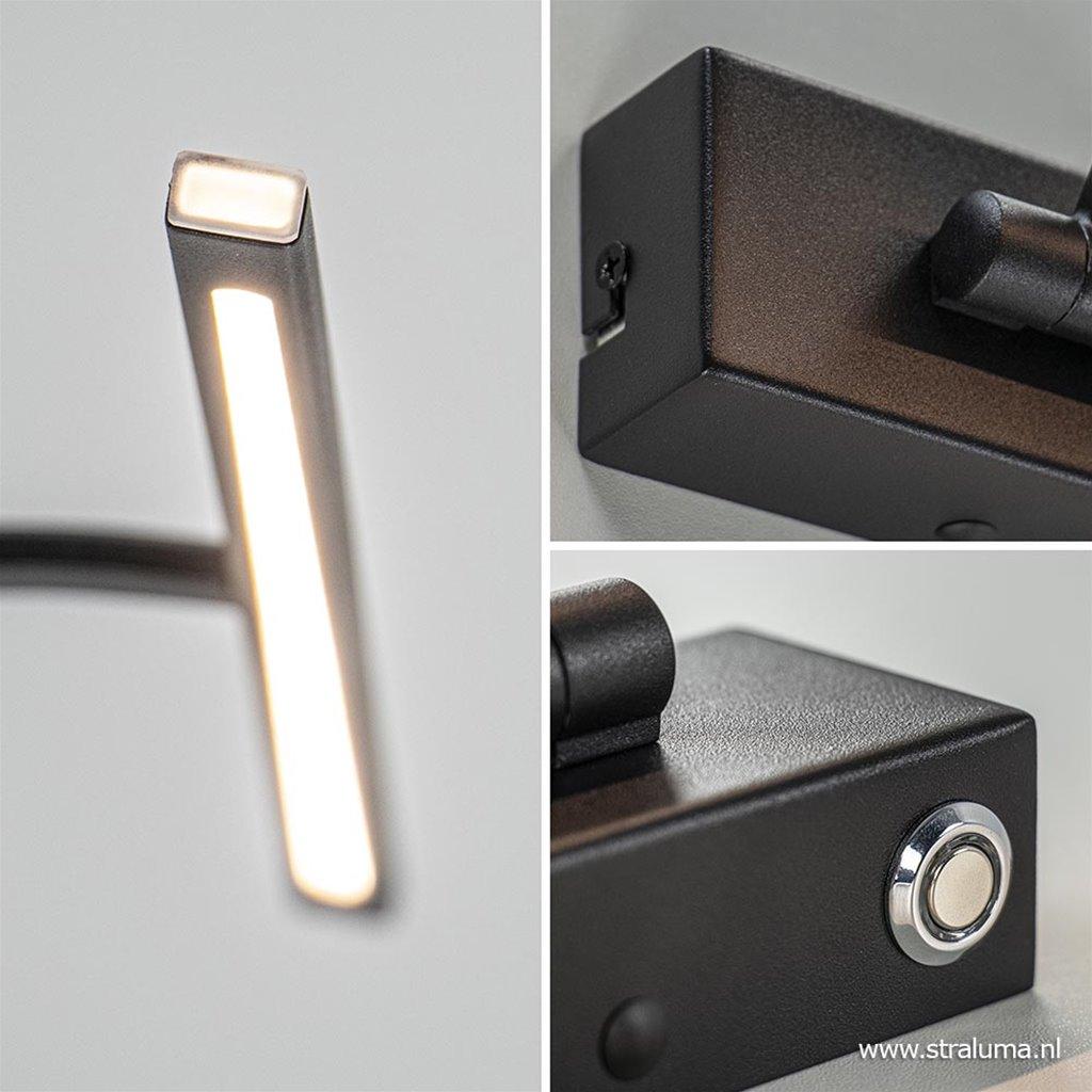 Moderne wandlamp schilderij inclusief dimbaar LED