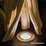 **Landelijke vloerlamp drijfhout takken