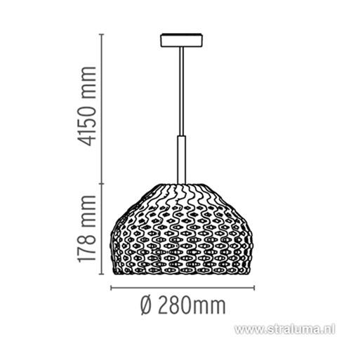 Hanglamp  Flos Tatou S1 Wit