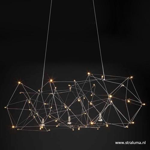 Hanglamp Universe staal 125+2x downlight