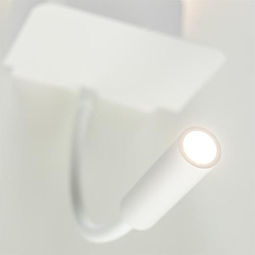 Rechthoekige wandlamp inclusief LED en USB