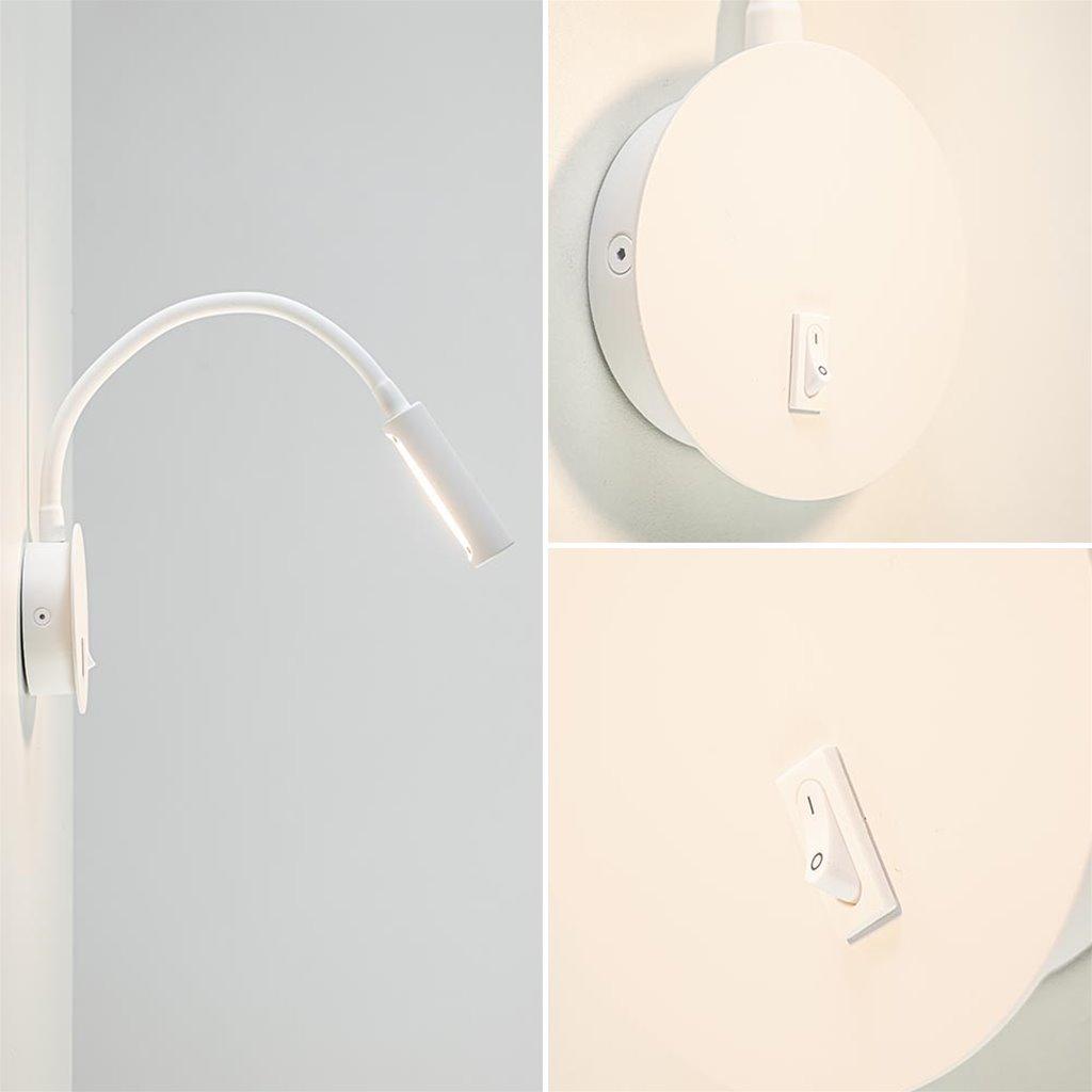 Verstelbare LED wandlamp inclusief LED