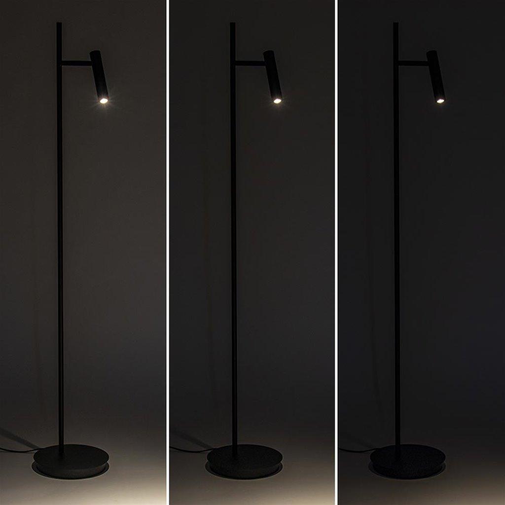 Moderne vloer/leeslamp zwart inclusief dimbaar LED