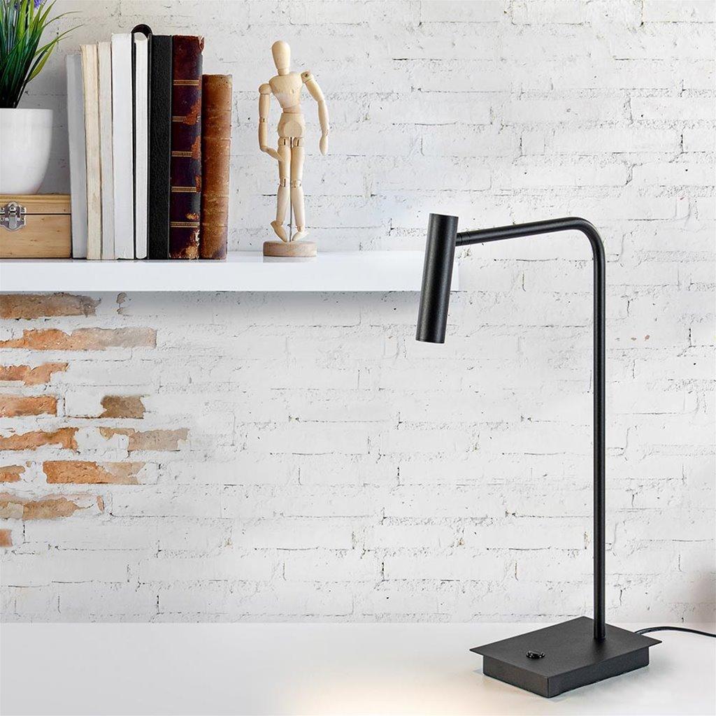 Zwarte bureaulamp met dimbaar LED verstelbaar