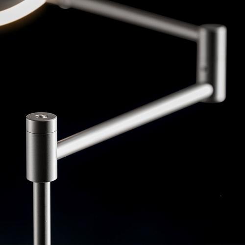 Moderne LED leeslamp vloerlamp antraciet