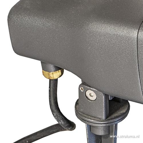 Verstelbare LED grondspot antraciet IP54