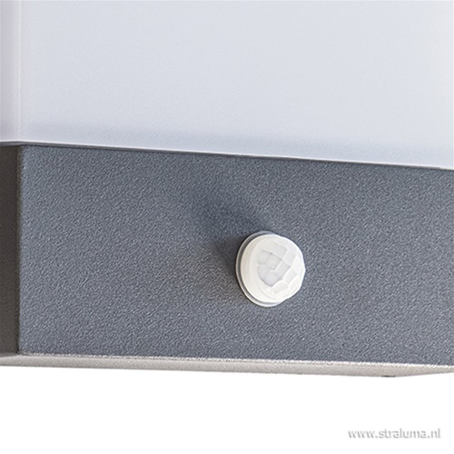 Buitenlamp wand antraciet+bew.sensor IP54