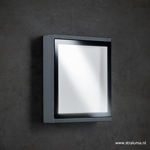 Buitenlamp wand rechthoek antraciet IP54