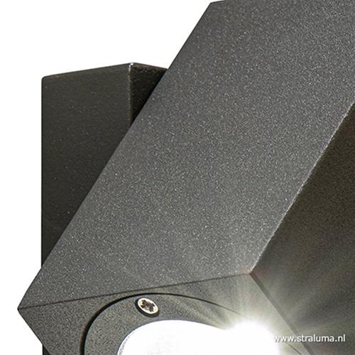 Buitenlamp wand verstelb.antraciet IP54