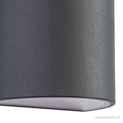 Buitenlamp wand up+down antraciet IP54