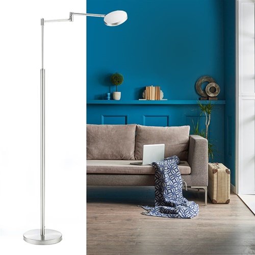 Moderne LED leeslamp vloerlamp aluminium mat