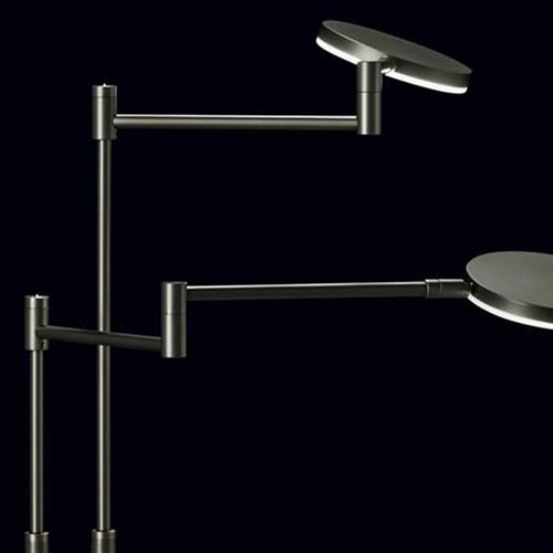 Moderne dubbele LED leeslamp antraciet