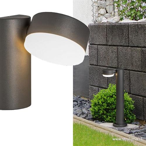 Buitenwandlamp LED antraciet verstelbaar