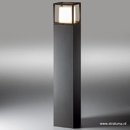 Buitenpaal vierkant antraciet IP44 LED