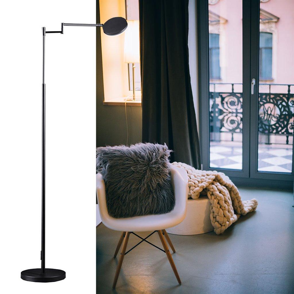 Moderne LED leeslamp vloerlamp zwart dimbaar