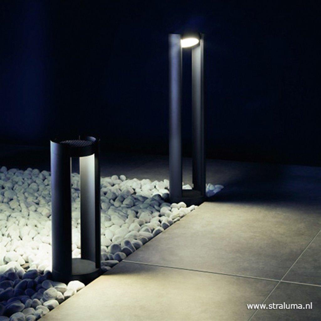 Antraciete buitenpaal LED verstelbaar
