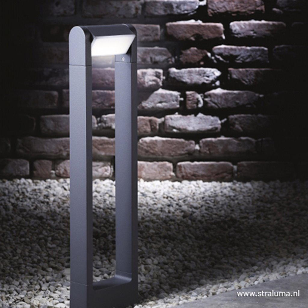LED buitenlamp paal antraciet-kantelbaar