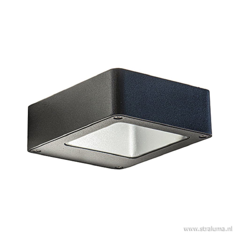 Wandlamp antraciet up/down LED IP54