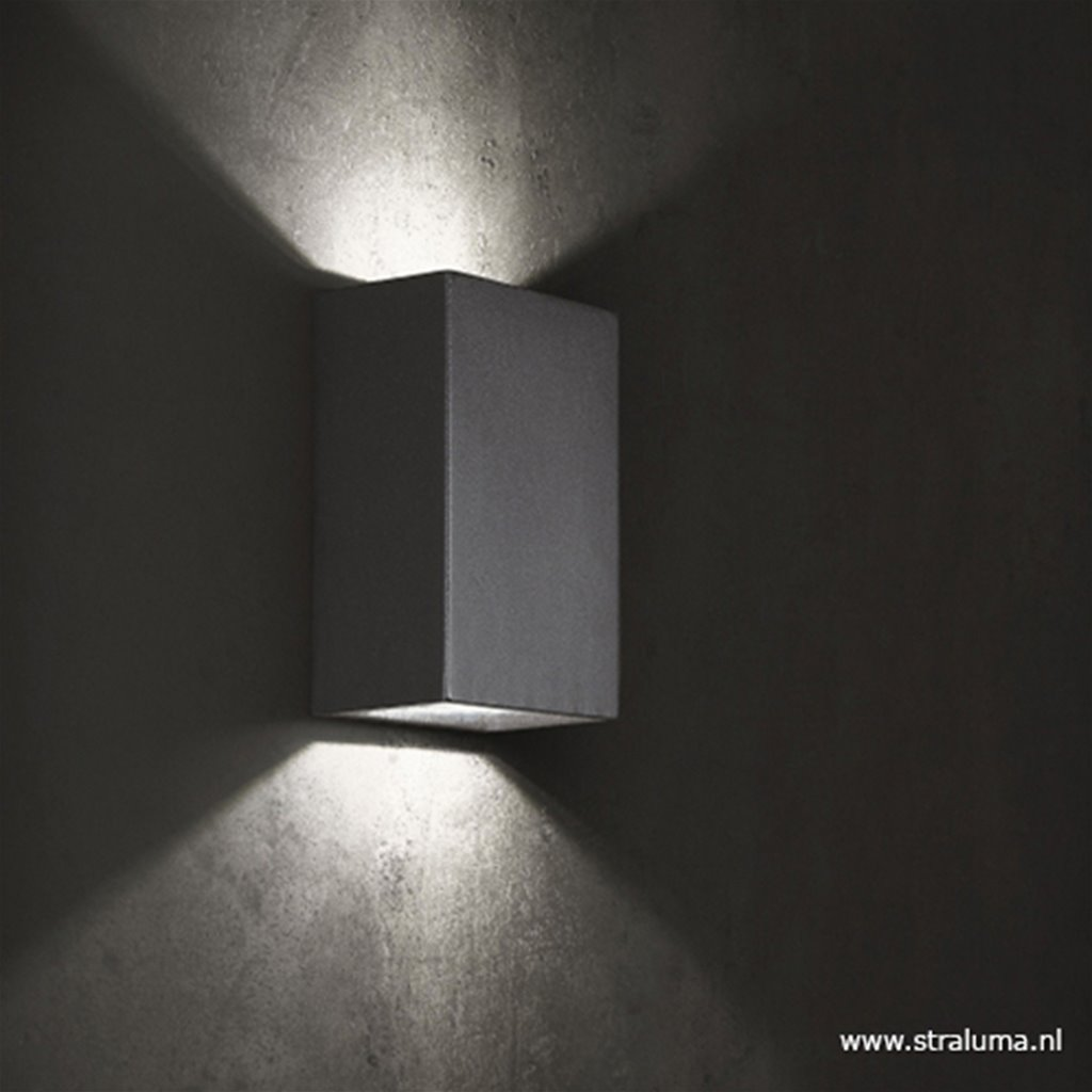 Buitenlamp up/down antraciet IP54 LED