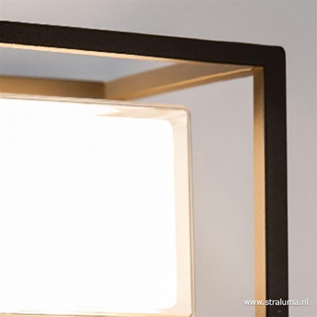 Moderne wandlamp buiten IP44 antraciet