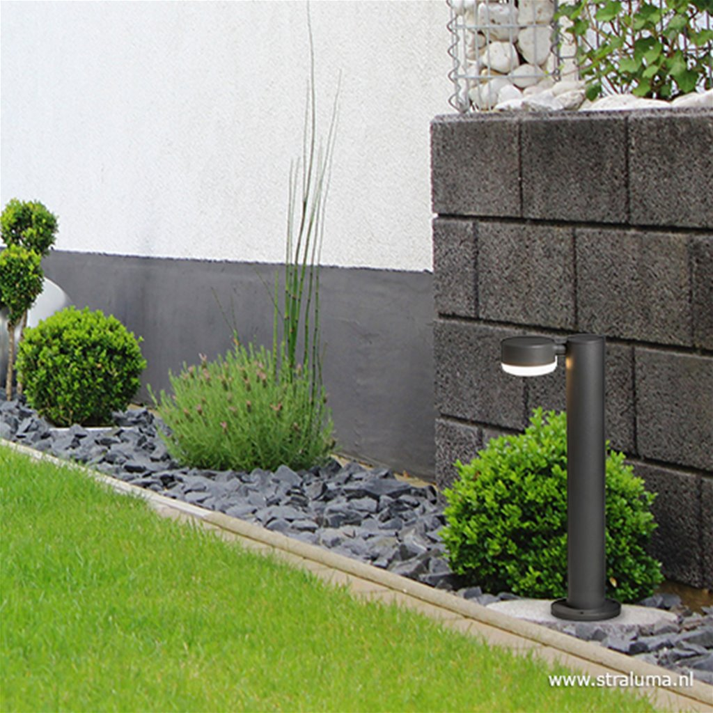 Moderne tuinpaal antraciet inclusief LED