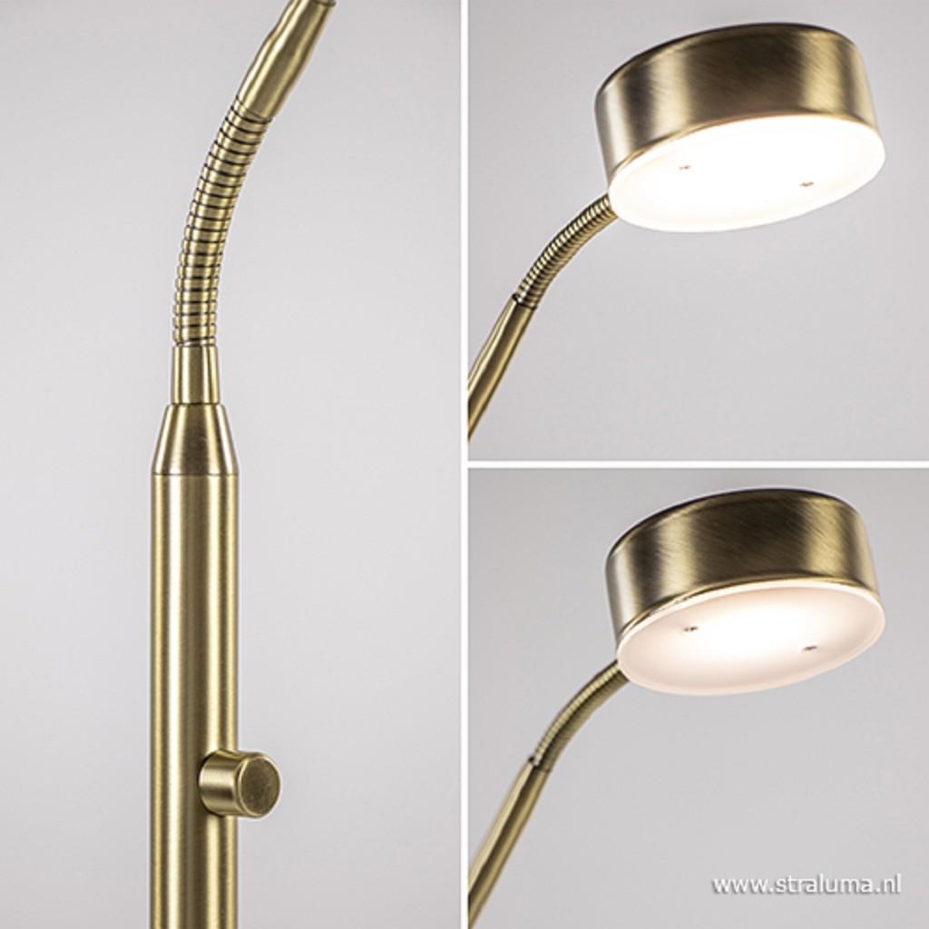 Klassieke leeslamp LED dimbaar brons