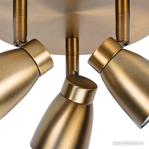Klassieke spot Mirage brons 3 lichts